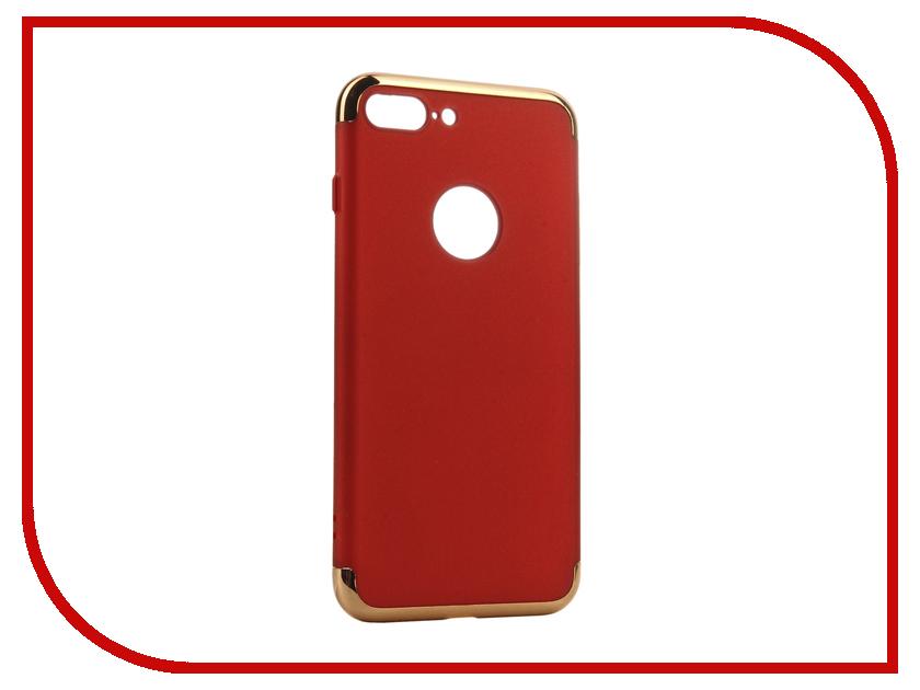 Аксессуар Чехол iBox Element для APPLE iPhone 7 Plus Red-Gold frame