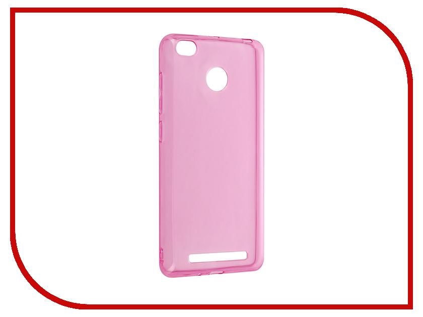 Аксессуар Чехол Xiaomi Redmi 3 / 3s / 3 Pro iBox Crystal Pink аксессуар чехол xiaomi redmi 3 3 pro ibox crystal grey