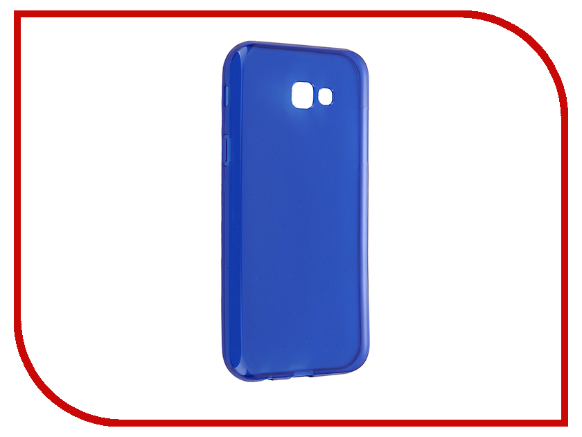 Аксессуар Чехол Samsung Galaxy A7 2017 iBox Crystal Blue клип кейс ibox fresh для samsung galaxy s5 mini черный