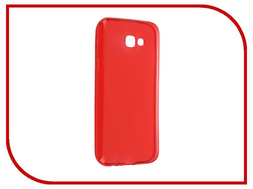 Аксессуар Чехол Samsung Galaxy A7 2017 iBox Crystal Red<br>
