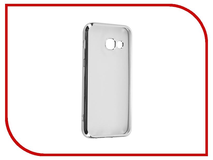 Аксессуар Чехол Samsung Galaxy A3 2017 iBox Blaze Silver frame<br>