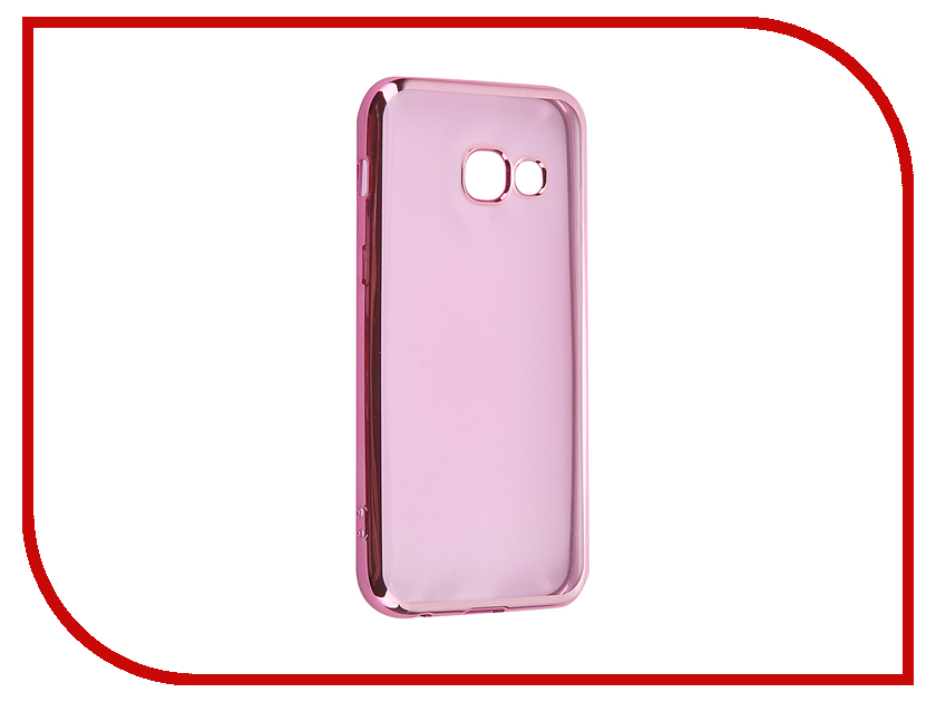 Аксессуар Чехол Samsung Galaxy A3 2017 iBox Blaze Pink frame<br>
