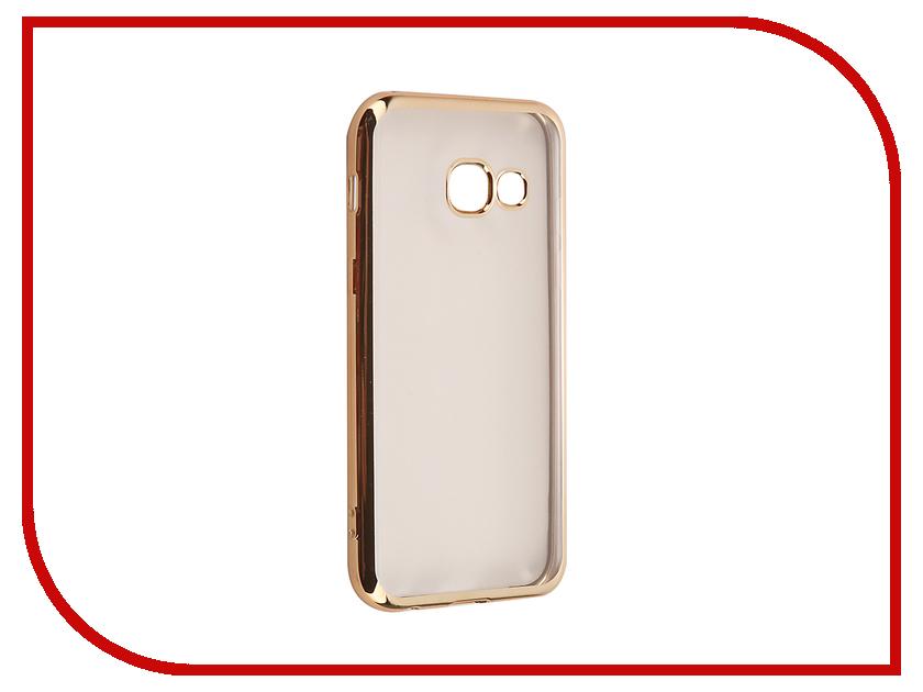 Аксессуар Чехол Samsung Galaxy A3 2017 iBox Blaze Gold frame<br>