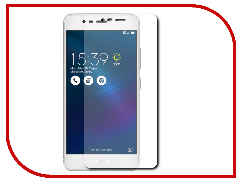 все цены на Аксессуар Защитное стекло ASUS ZenFone 3 Max ZC520TL 5.2 Red Line Tempered Glass онлайн
