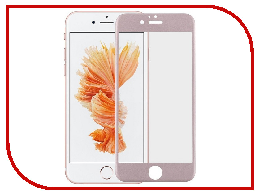 Аксессуар Защитное стекло Red Line Full Screen Tempered Glass Matte для APPLE iPhone 7 Plus 5.5 Pink benks magic kr pro 0 15mm 3d curved tempered glass screen protector for iphone 6s plus 6 plus full cover white