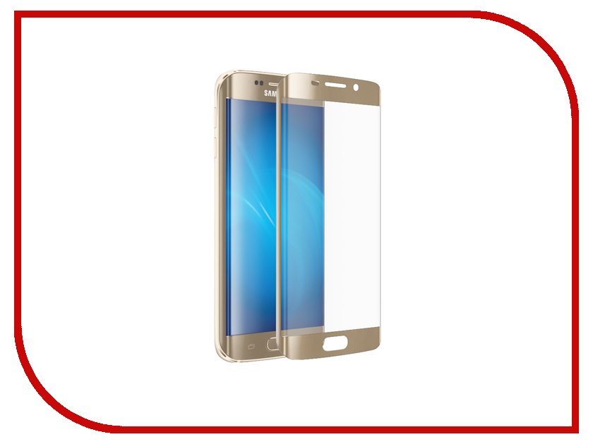 Аксессуар Защитное стекло Samsung Galaxy S7 Edge Full Screen 3D Red Line Tempered Glass Gold аксессуар защитное стекло samsung galaxy a3 2017 solomon full cover black