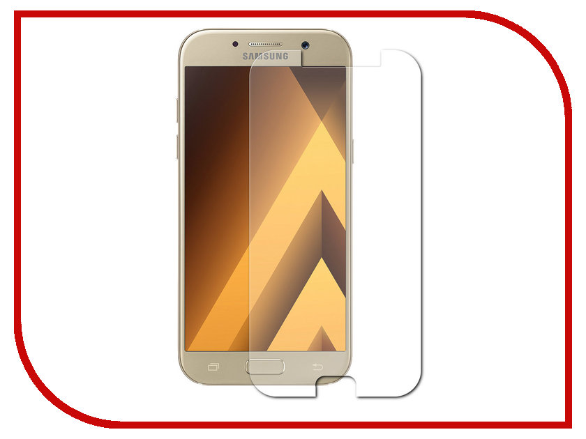 Аксессуар Защитное стекло Samsung Galaxy A5 2017 5.2 Red Line Tempered Glass аксессуар защитное стекло samsung galaxy a3 2017 solomon full cover black