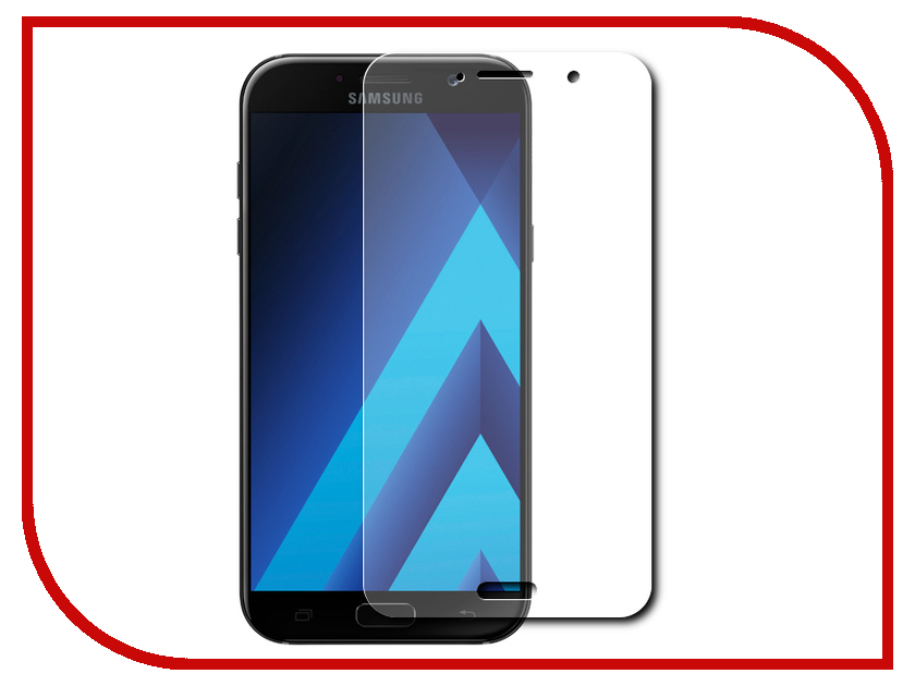Аксессуар Защитное стекло Samsung Galaxy A3 2017 4.7 Red Line Tempered Glass аксессуар защитное стекло samsung galaxy a3 2017 solomon full cover black