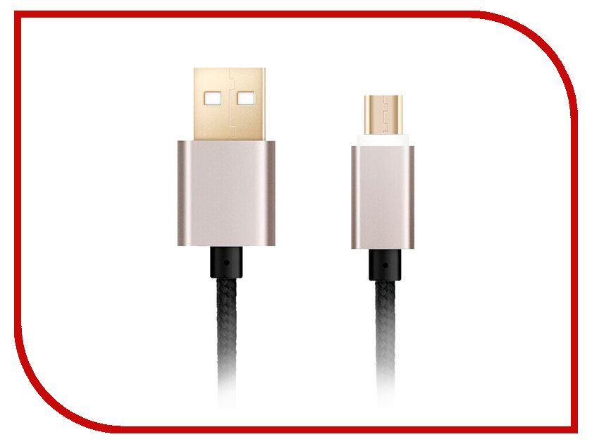 Аксессуар Ginzzu USB - microUSB GC-558UB Black ginzzu ginzzu gc m511t alum для iphone se 5 5s