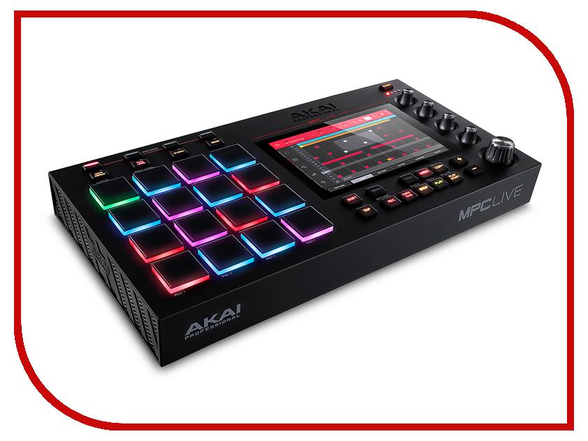 MIDI-контроллер AKAI pro MPC Live akai hd 151r