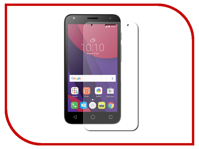Аксессуар Защитное стекло Alcatel Pixi 4 5045D Red Line Tempered Glass смартфон alcatel pixi 4 ds full white 5045d