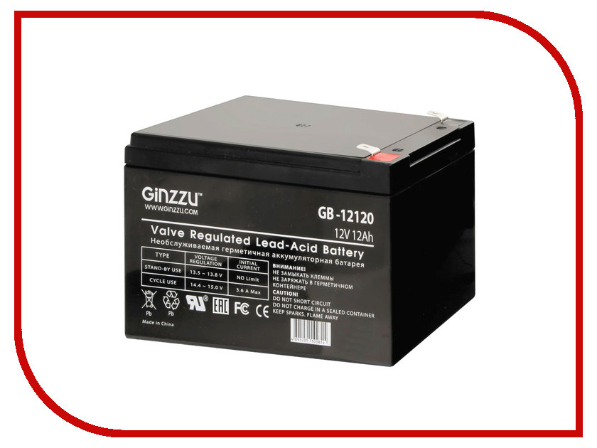 Аккумулятор для ИБП Ginzzu GB-12120<br>