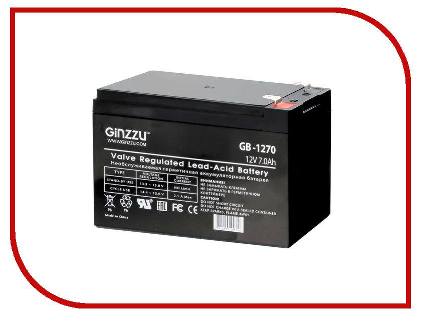 Аккумулятор для ИБП Ginzzu GB-1270 оперативная память kingston kvr24r17s4 16