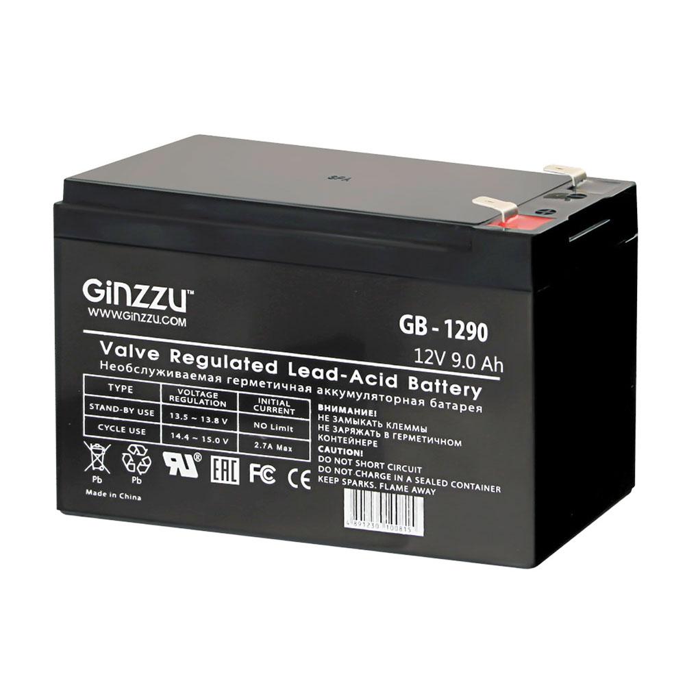 Фото - Аккумулятор для ИБП Ginzzu GB-1290 аккумулятор