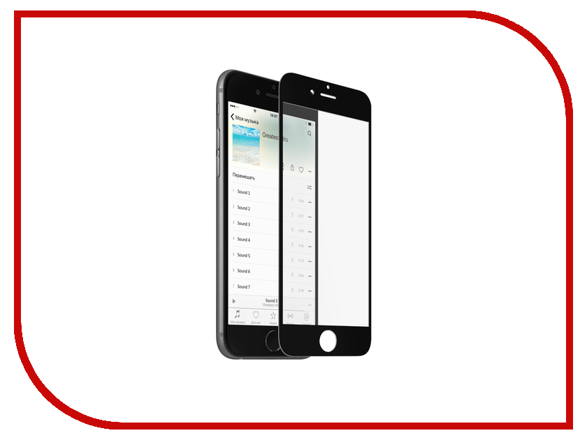 Аксессуар Защитное стекло Krutoff 3D для APPLE iPhone 6 Black 20227 аксессуар защитное стекло krutoff front