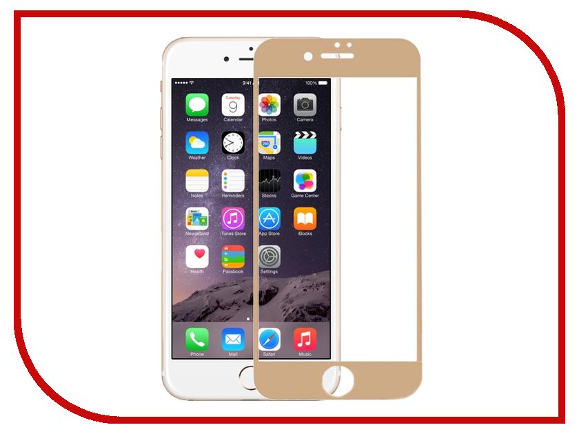 Аксессуар Защитное стекло Krutoff 3D для APPLE iPhone 6 Gold 20229 аксессуар защитное стекло htc desire 820 krutoff 0 26mm 21986