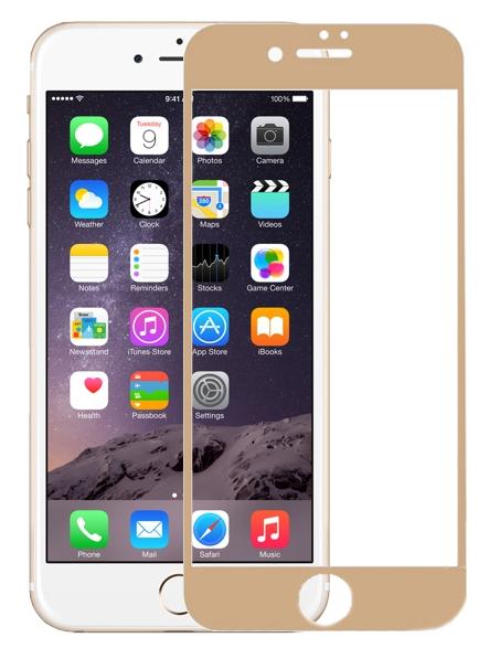 Аксессуар Защитное стекло Krutoff для APPLE iPhone 6 3D Gold 20229
