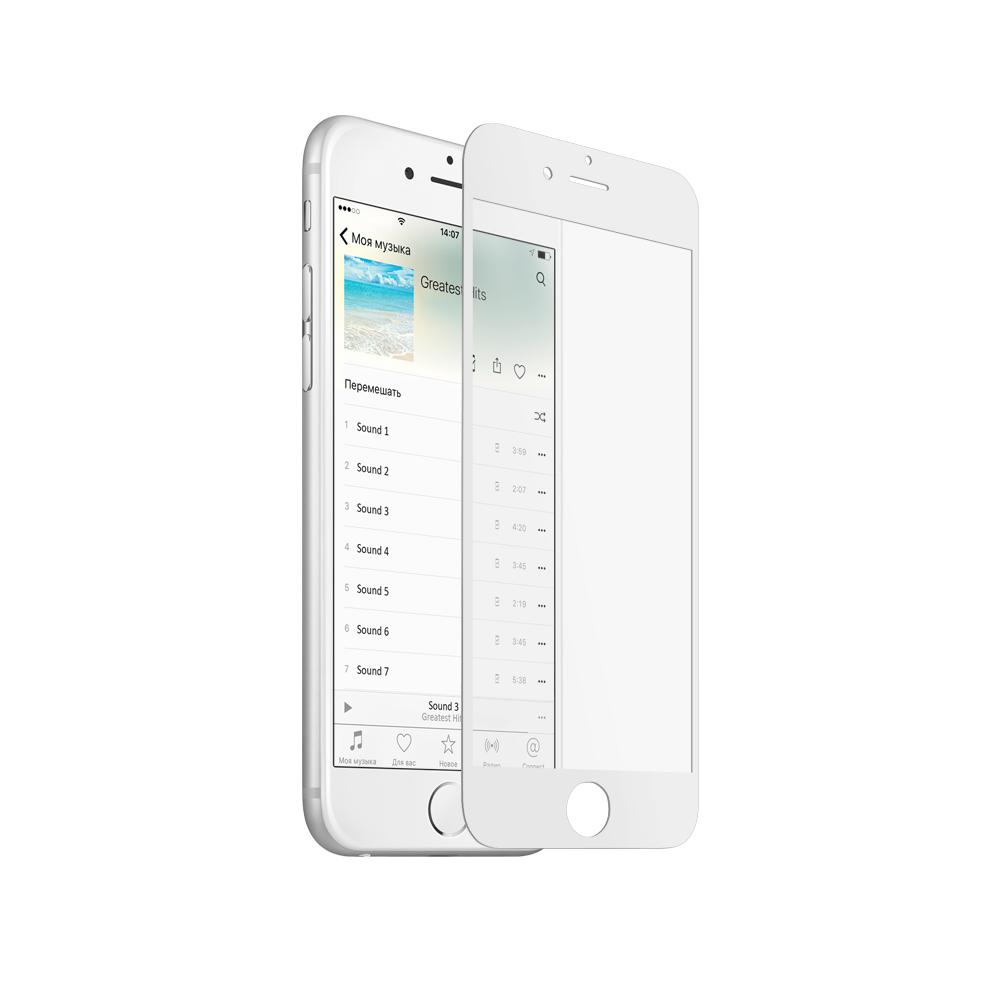 Аксессуар Защитное стекло Krutoff для APPLE iPhone 6 3D White 20228 аксессуар накладка силиконовая krutoff для apple iphone x blue karbon 11915