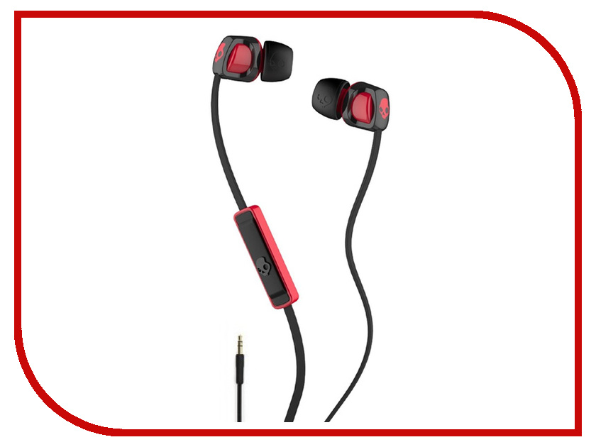 Skullcandy Smokin Buds with Mic Black-Red S2PGFY-010 1more super bass headphones black and red