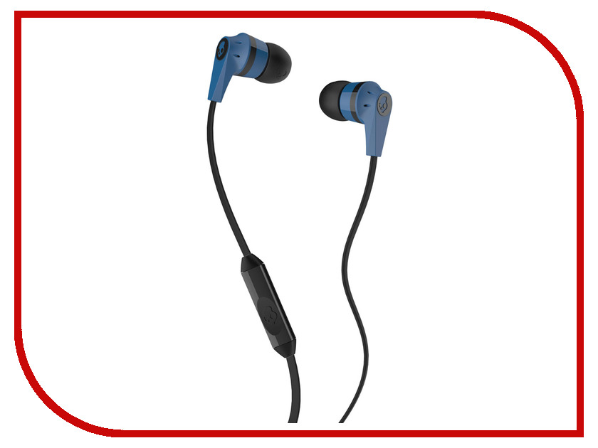 Skullcandy Ink D 2.0 In-Ear W/Mic Blue-Black S2IKDY-101 skullcandy jib in ear w o mic s2dudz 072 white