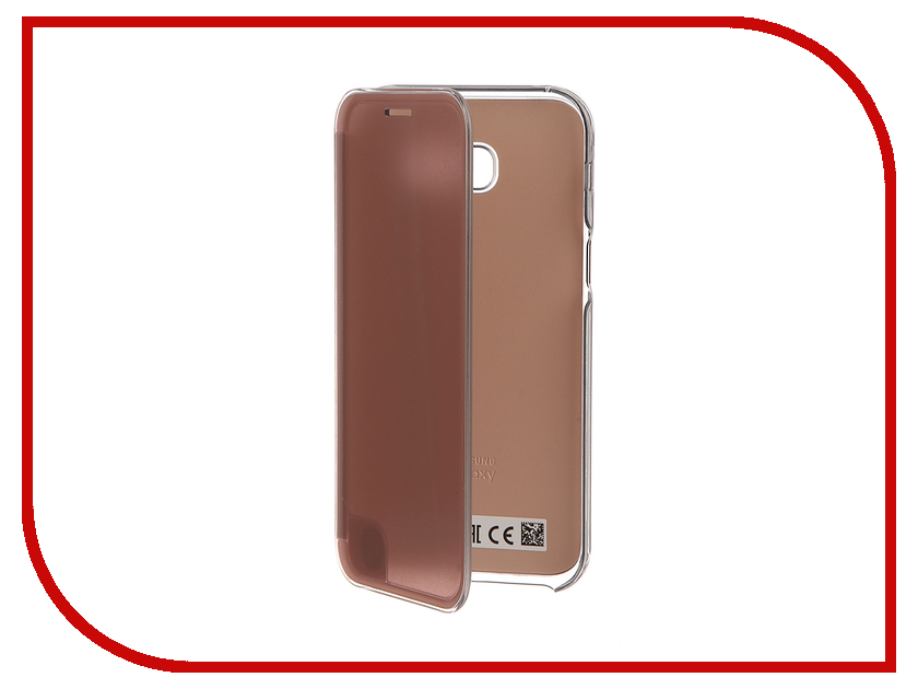 Аксессуар Чехол Samsung Galaxy A5 2017 Clear View Pink EF-ZA520CPEGRU<br>
