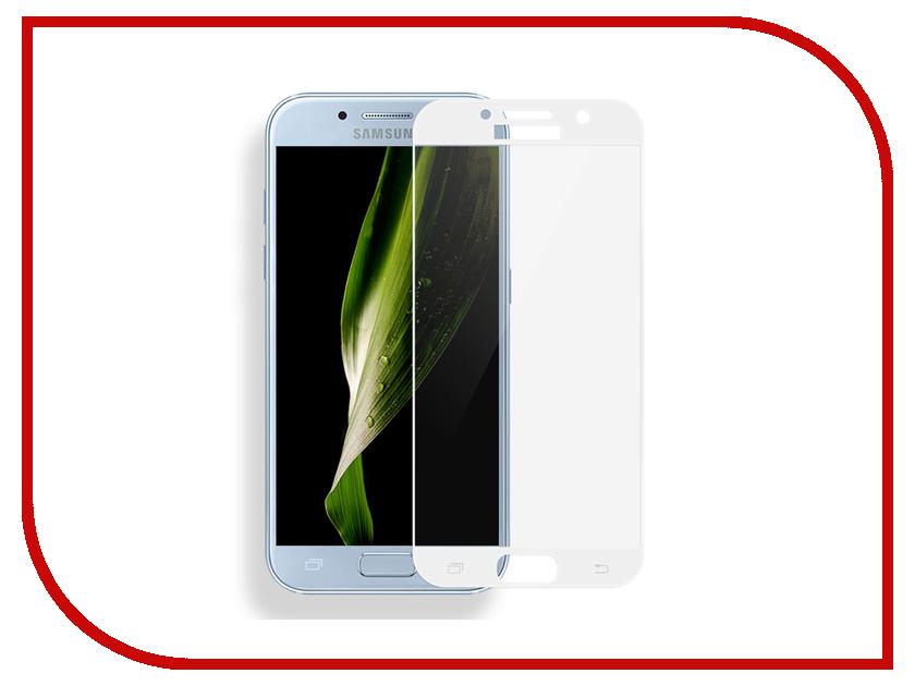 Аксессуар Защитное стекло Samsung Galaxy A7 2017 Solomon Full Cover White