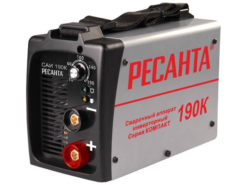 Сварочный аппарат Ресанта САИ 190К Выгодный набор + серт. 200Р!!! инвертор сварочный ресанта саи 190к 190а