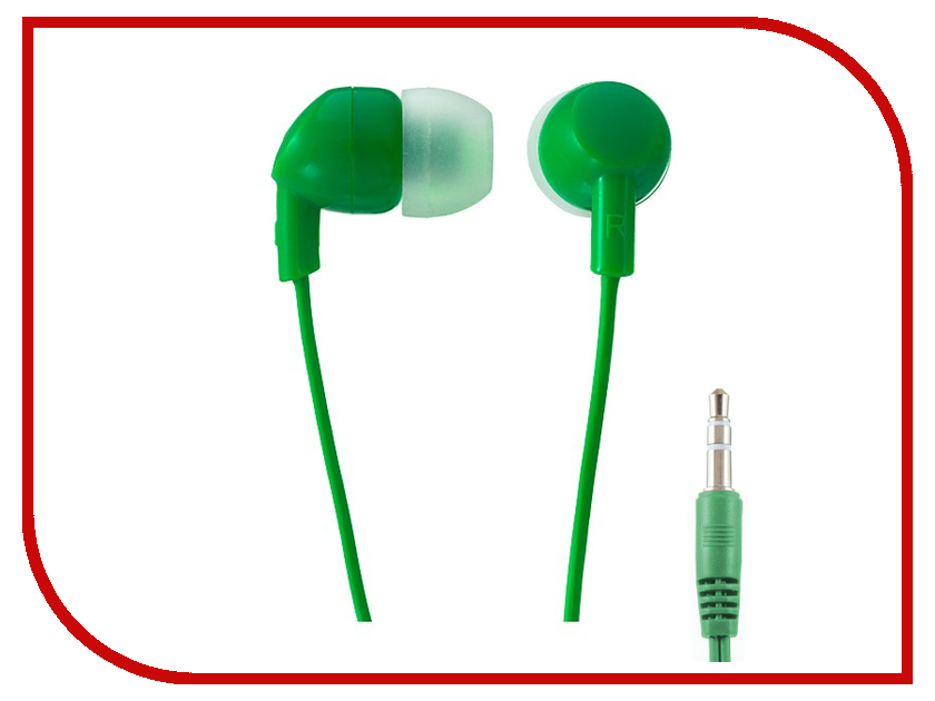 Наушники Perfeo Ipod Green PF-IPD-GRN perfeo sound stripes наушники