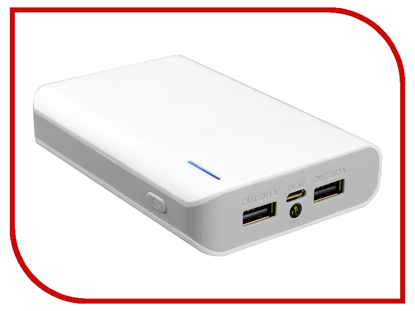 Аккумулятор iconBIT FTB8000SP 8000 mAh White-Gray<br>