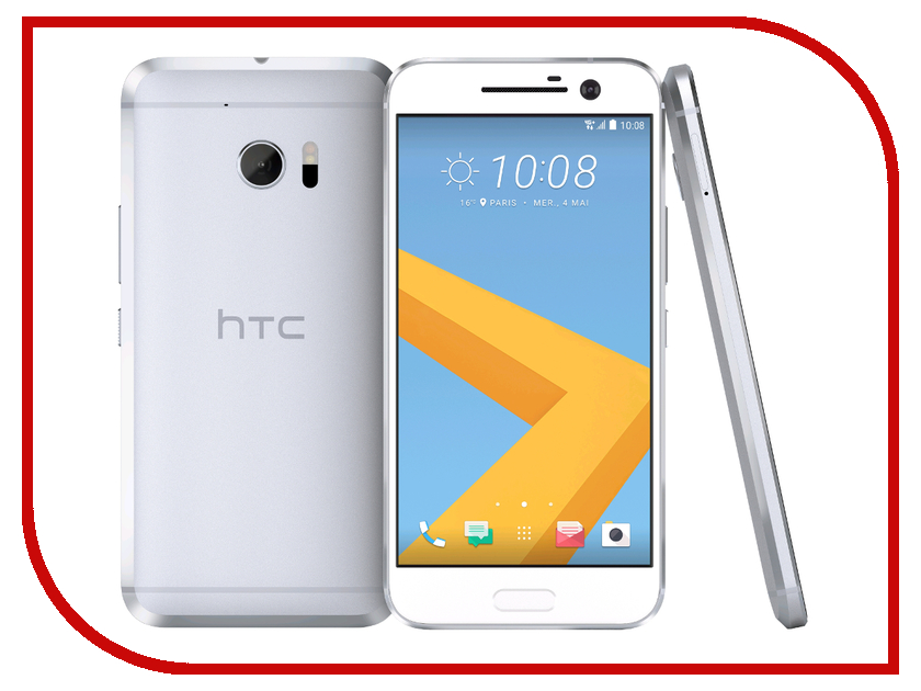 Сотовый телефон HTC 10 32GB Glacier Silver купить 4good t101i wifi 32gb