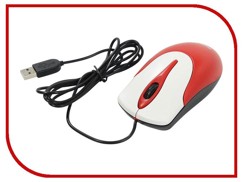 Мышь проводная Genius NetScroll 100 V2 USB Red-White<br>