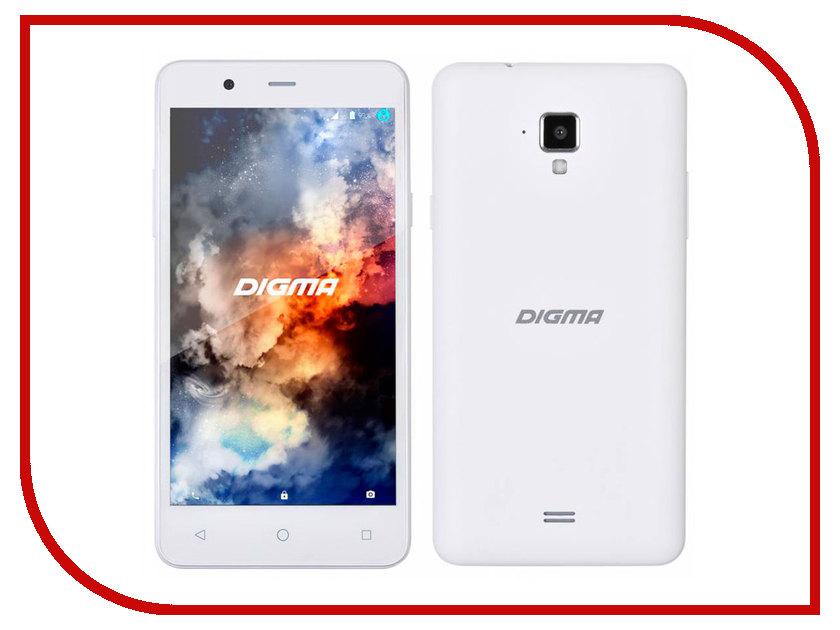 Сотовый телефон Digma Linx A501 4G White digma linx a501 4g 8гб белый dual sim 4g lte 3g