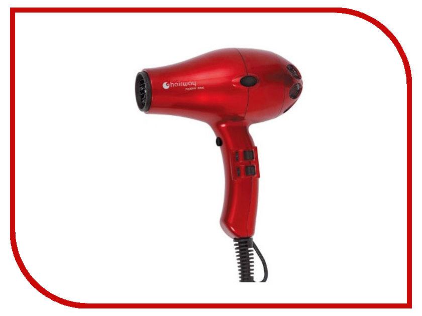 Фен HairWay Phoenix Ionic Compact Red 03048 фен coifin nexus ne1 h ionic 03110