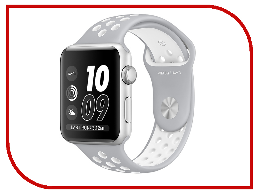 Умные часы APPLE Watch Nike+ 42mm Silver Aluminium Case with Flat Silver-White