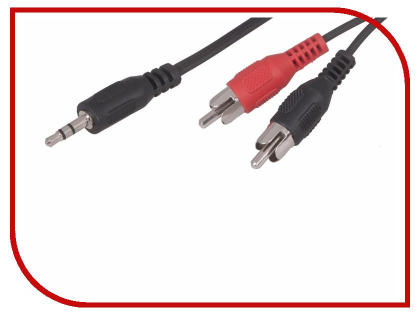 Аксессуар Rexant 3.5mm - 2RCA 5m 17-4205 аксессуар rexant 2rca plug 2rca plug 5m 17 0136