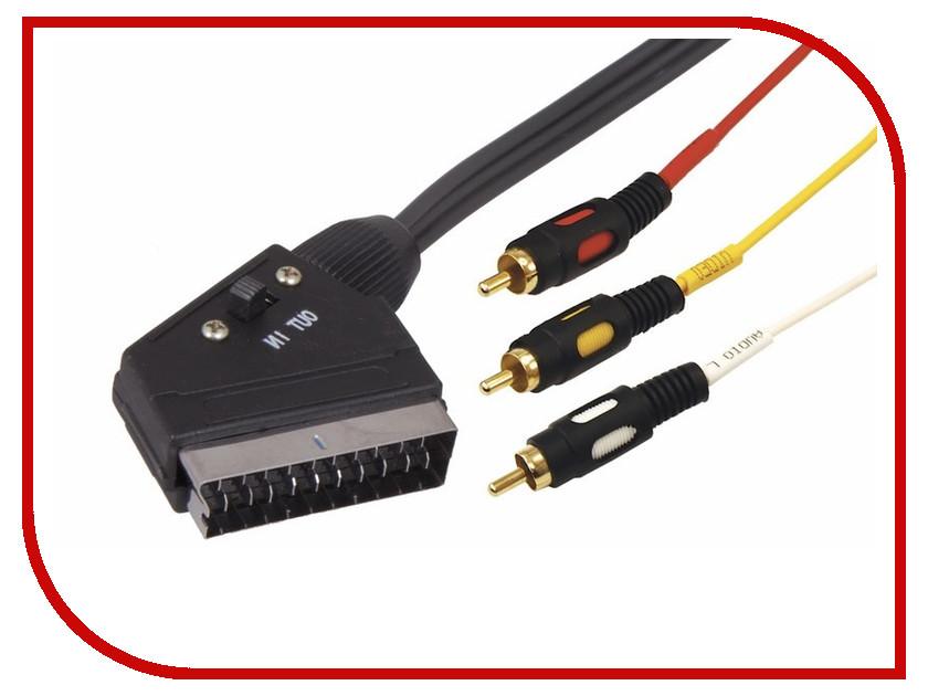 Аксессуар Rexant SCART Plug - 3RCA Plug 3m 17-1354 аксессуар rexant 3rca plug 3rca plug 5m 17 0236