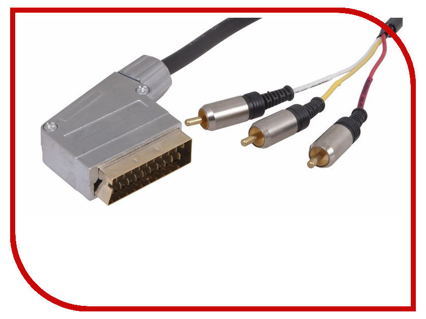 Аксессуар Rexant SCART Plug - 3RCA Plug 3m 17-1334