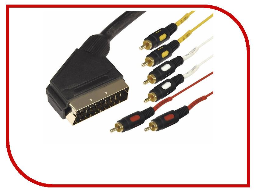 Аксессуар Rexant SCART Plug - 6RCA Plug 1.5m 17-1512