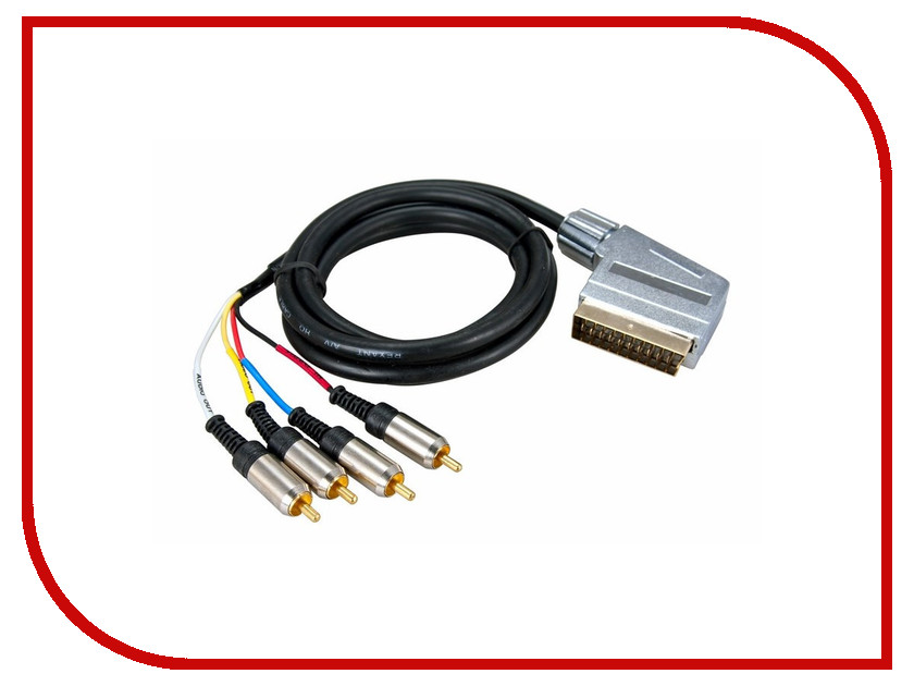 Аксессуар Rexant SCART Plug - 4RCA Plug 3m 17-1424