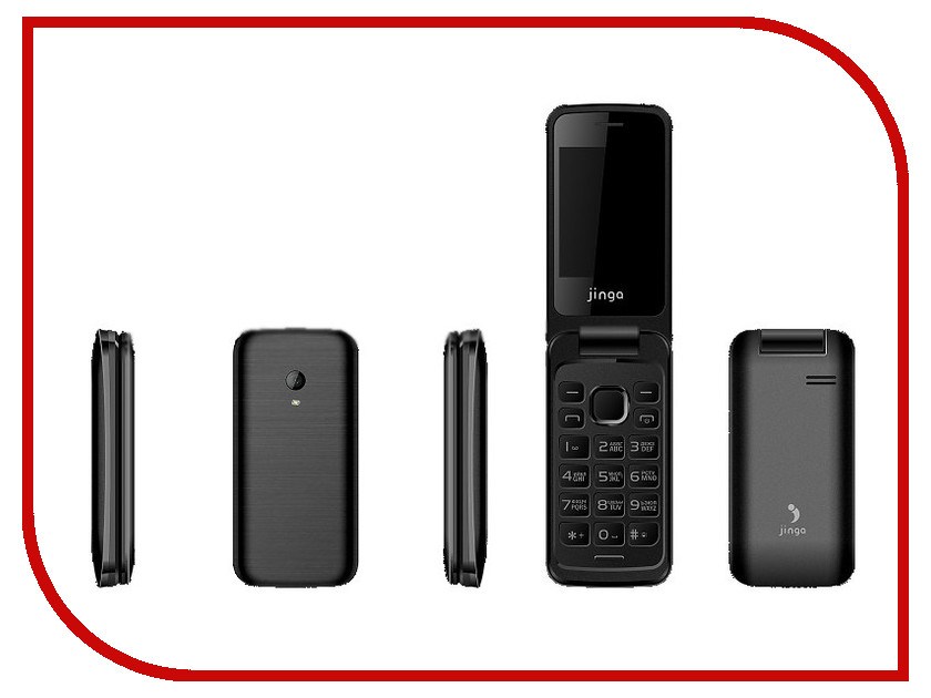 Сотовый телефон Jinga Simple F510 Black цена и фото