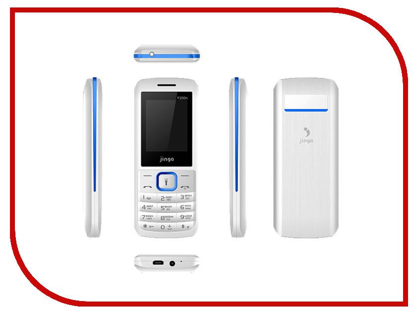 Сотовый телефон Jinga Simple F200n White-Blue