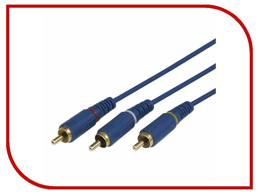 Аксессуар Rexant 3RCA - 3RCA 1.5m Blue 17-0202-1