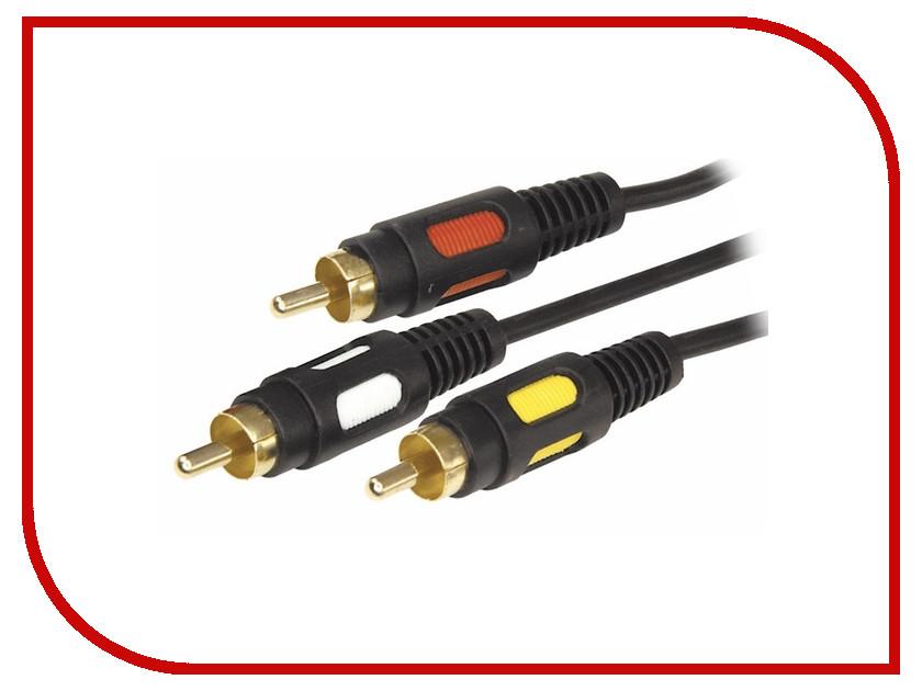 Аксессуар Rexant 3RCA Plug - 3RCA Plug 3m 17-0214