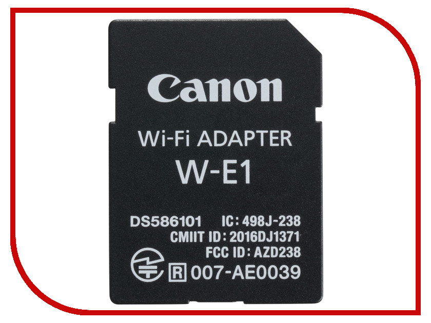 Карта памяти Адаптер Canon W-E1 Wi-Fi 1716C001 приют для животных щелково