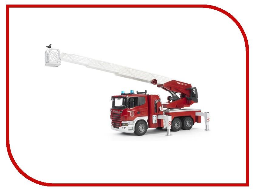 Машина Bruder Пожарная машина Scania 03-590 машины bruder лесовоз scania с портативным краном и брёвнами
