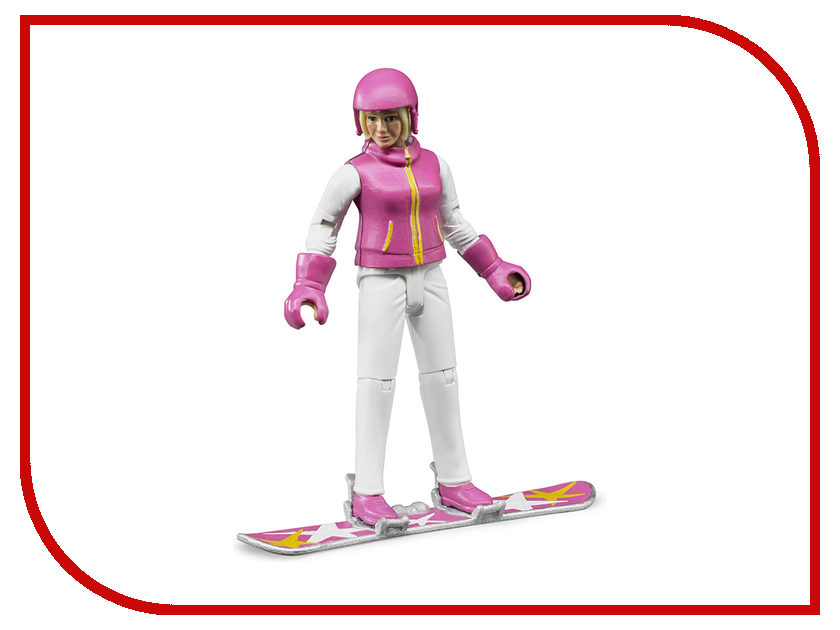 Игрушка Bruder Фигурка сноубордистки с аксессуарами 60-420