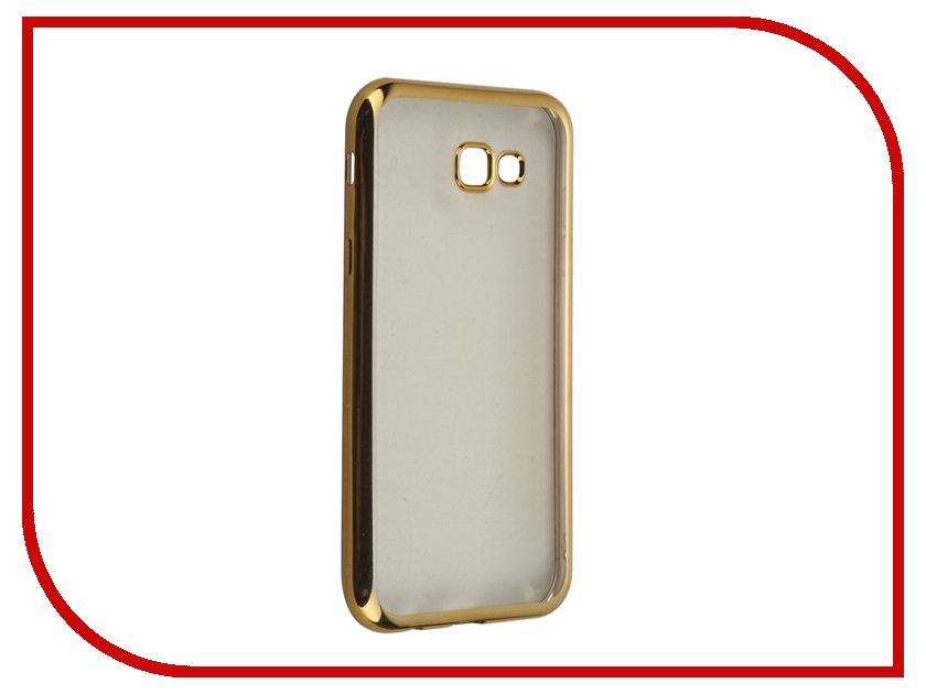 Аксессуар Чехол для Samsung Galaxy A7 (2017) SkinBox Silicone Chrome Border 4People Gold T-S-SGA72017-008 аксессуар чехол samsung galaxy a7 2017 with love moscow silicone lips 5080