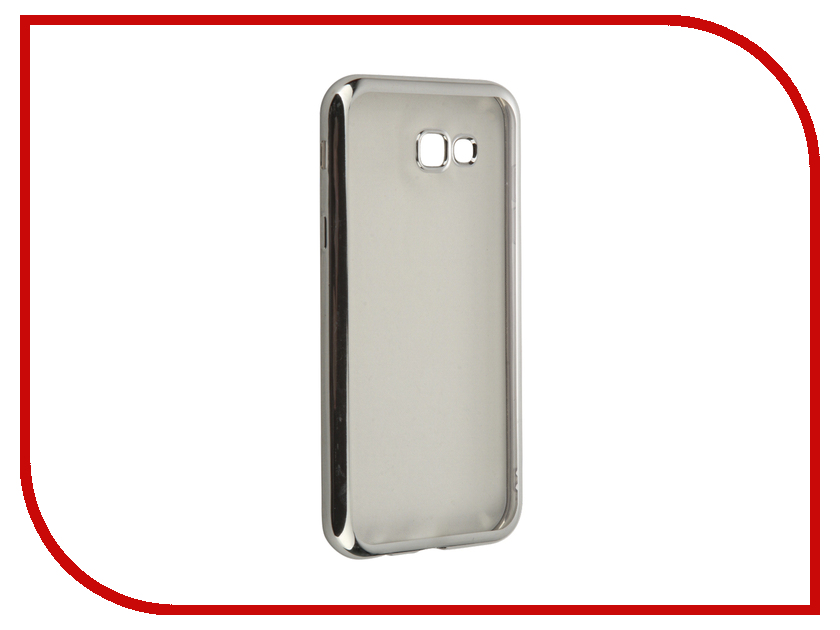 цена на Аксессуар Чехол для Samsung Galaxy A7 (2017) SkinBox Silicone Chrome Border 4People Silver T-S-SGA72017-008
