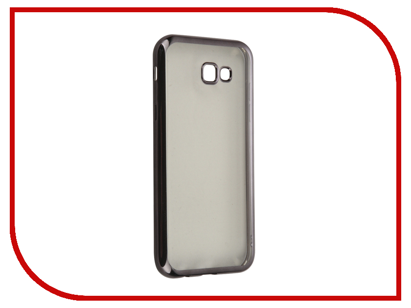 Аксессуар Чехол Samsung Galaxy A7 (2017) SkinBox Silicone Chrome Border 4People Dark-Silver T-S-SGA72017-008 аксессуар чехол накладка samsung galaxy j3 2016 skinbox silicone chrome border 4people dark silver t s sgj32016 008