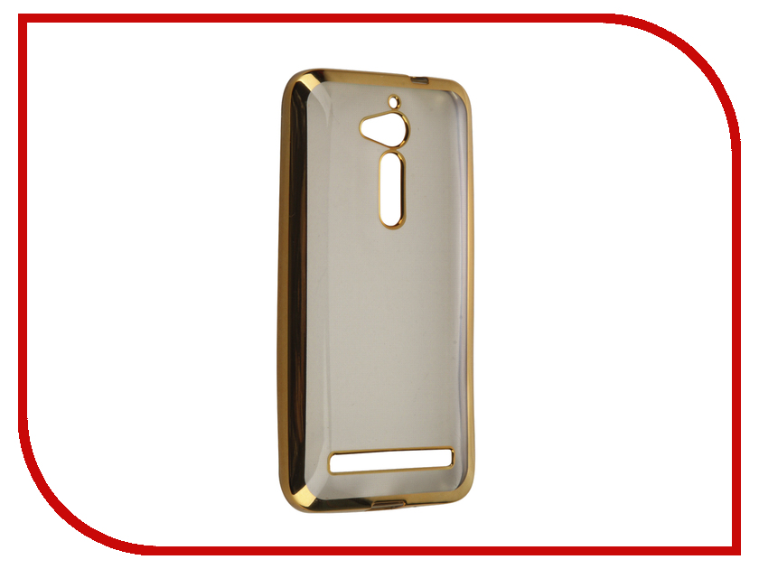 Аксессуар Чехол ASUS ZenFone Go ZB500KG SkinBox Silicone Chrome Border 4People Gold T-S-AZB500KG-008 zb500kg 1c014ru